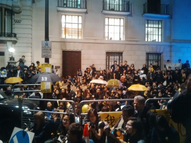 Image from Hong Kong protest in London