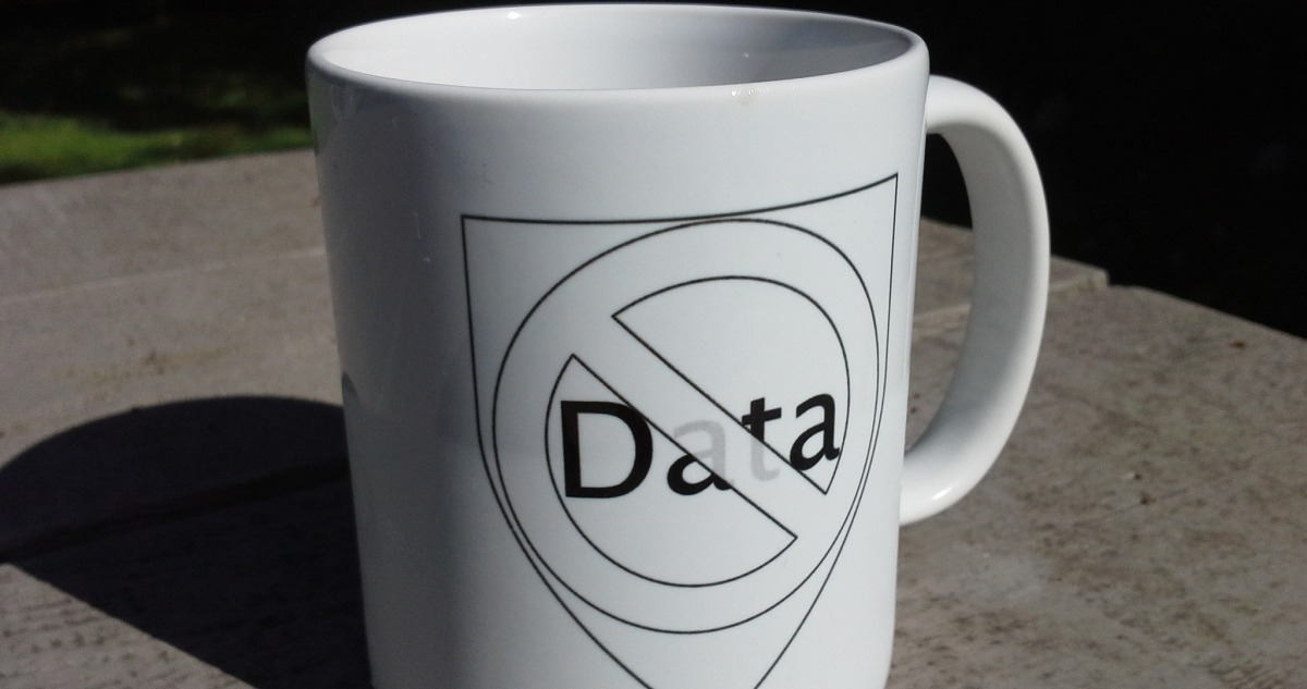 Mug showing data